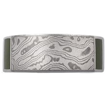 Mokume Block Wedding Band - top view