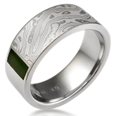 Designer Jade Wedding Band