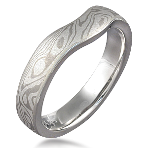 Unique Mokume Gane Wedding Ring