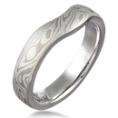 Contoured Band for Engagement Ring