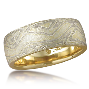 Designer Mokume Wedding Ring