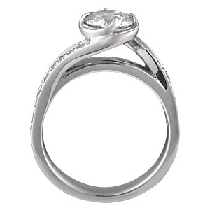 Brilliant Rose Swirl Engagement Ring