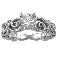 Contemporary Infinity Engagement Ring - top view