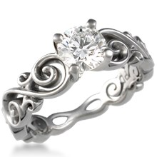 Contemporary Infinity Engagement Ring