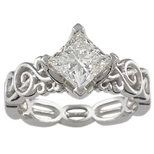 Harmony Treble Clef Engagement Ring - top view