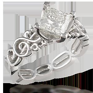 Harmony Treble Clef Engagement Ring