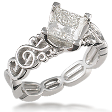 Harmony Treble Clef Engagement Ring