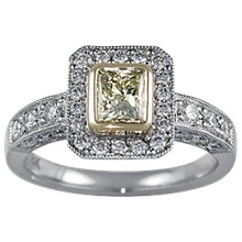 Brilliant Cathedral Light Pave Engagement Ring - top view
