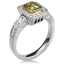 Brilliant Cathedral Light Pave Engagement Ring