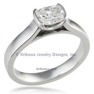 Modern Cathedral Bezel Engagement Ring