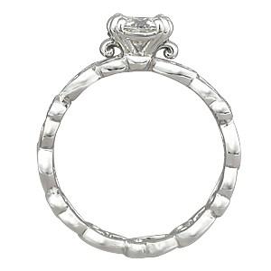Delicate Leaf Unique Engagement Ring