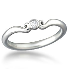 Carved Mini Curls Wedding Band
