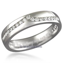 Diamond Wave Straight Wedding Band