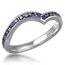 Unique Sapphire Wedding Band