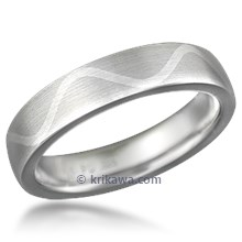 Flush Inlay Wave Wedding Band