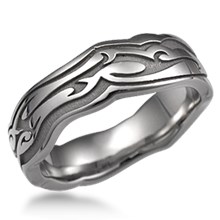 Tribal Eternity Wedding Band