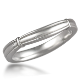 Sculptural Designer Wedding Ring