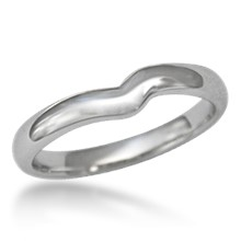Contoured Plain Wedding Band