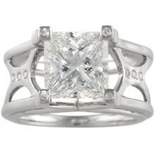Galaxy Queen Engagement Ring - top view