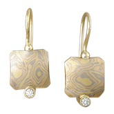 Designer Mokume Earrings
