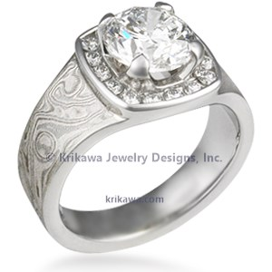 Mokume Red Carpet Engagement Ring
