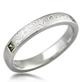 Contemporary Mokume Wedding Band