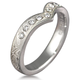 Unusual Mokume Gane Wedding Ring