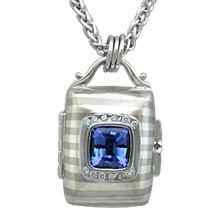 Striped Cushion Locket