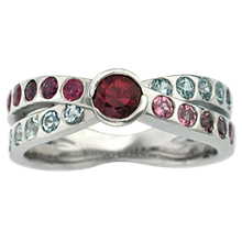 Mother's Birthstone Ring - top view
