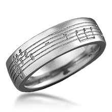 Musical Phrase Wedding Band
