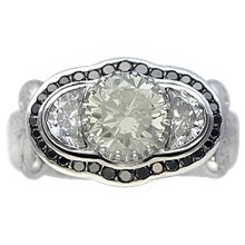 Queen of Everything Luxury Engagement Ring - top view