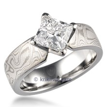 Mokume Princess Kite Engagement Ring