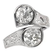 Mokume Doublet Ring - top view