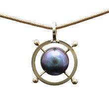 Caged Pearl Pendant
