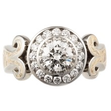 Queen of One Engagement Ring - top view