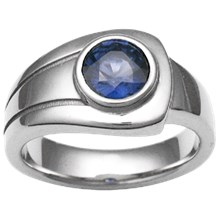 Modern Embrace Engagement Ring - top view