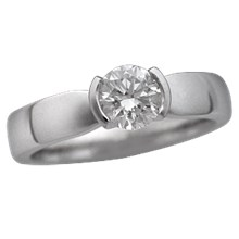 Modern Taper Engagement Ring - top view