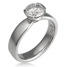 Modern Taper Engagement Ring