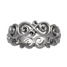 Ornate Infinity Wedding Band - top view