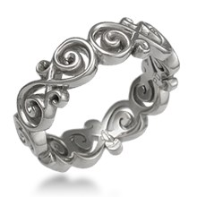 Ornate Infinity Wedding Band
