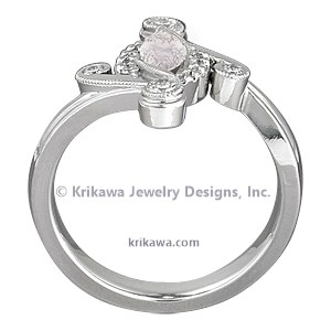 Marquise Pave Engagement Ring