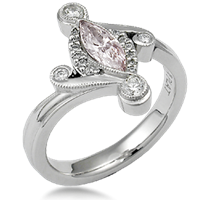 Fancy Pink Diamond Engagement Ring