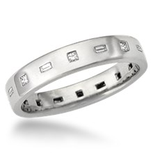 Modern Flush Diamond Wedding Band
