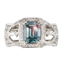 Belle Époque Engagement Ring - top view