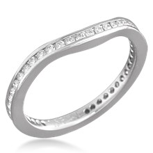 Curved Diamond Band Eternity Style