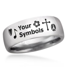 Symbol Wedding Band