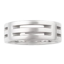 Post Modern Wedding Band - top view