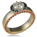 Sun and Moon Engagement Ring