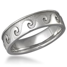 Rolling Wave Eternity Wedding Band