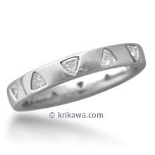 Straight Diamond Wedding Band with Trilliants